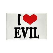 I Love Evil Rectangle Magnet