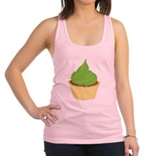 Lime Frosting Cupcake Racerback Tank Top