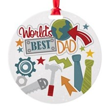 Cute 1 dad Ornament