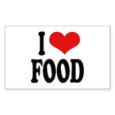 I Love Food Rectangle Decal