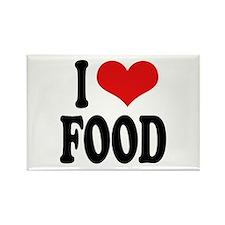 I Love Food Rectangle Magnet