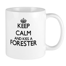 Keep calm and kiss a Forester Mugs