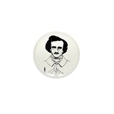 Portrait of Edgar Allen Poe Mini Button (10 pack)
