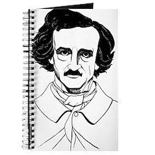 Portrait of Edgar Allen Poe Journal