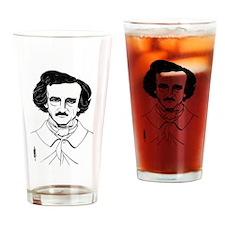 Portrait of Edgar Allen Poe Drinking Glass