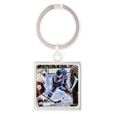 Unique Hockey players Square Keychain