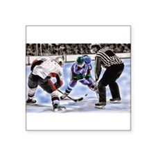 Ice Hockey Players and Referee Sticker