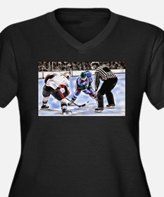 Ice Hockey Players and Referee Plus Size T-Shirt