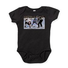 Ice Hockey Players and Referee Baby Bodysuit