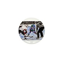Ice Hockey Players and Referee Mini Button