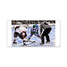 Ice Hockey Players and Refe Aluminum License Plate