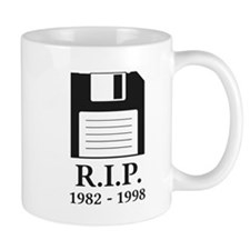 Rest in Peace RIP Floppy Disk Mugs