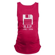 Rest in Peace RIP Floppy Disk Maternity Tank Top