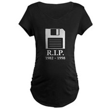 Rest in Peace RIP Floppy Disk Maternity T-Shirt