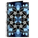 Blue fractal Journals & Spiral Notebooks