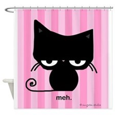Cute Brown, pink, green Shower Curtain