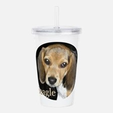 Close Up Beagle Puppy Acrylic Double-Wall Tumbler