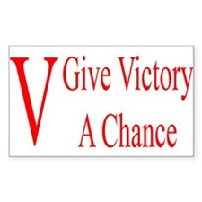 Give Victory A Chance Rectangle Decal