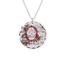 Joy To the World Necklace Circle Charm