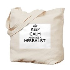 Keep calm and kiss a Herbalist Tote Bag