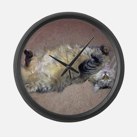 Very Happy Formerly Stray Maine Large Wall Clock