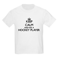 Keep calm and kiss a Hockey Player T-Shirt