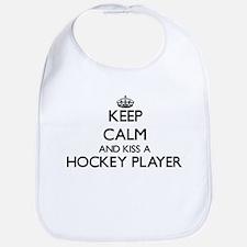 Keep calm and kiss a Hockey Player Bib