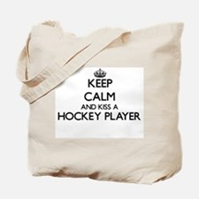 Keep calm and kiss a Hockey Player Tote Bag