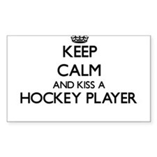 Keep calm and kiss a Hockey Player Decal