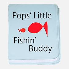 Pops Little Fishin' Buddy baby blanket
