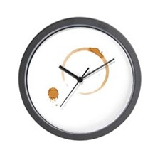 Coffee Stain Wall Clock