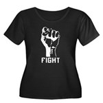 Fight The Power Women's Plus Size Scoop Neck Dark