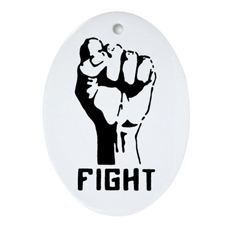 Fight The Power Oval Ornament