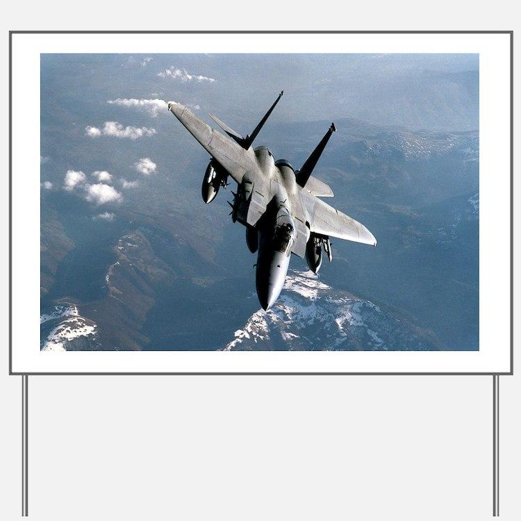 Fighter Jet Yard Sign