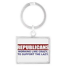 Unique Republican Landscape Keychain
