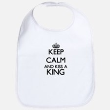 Keep calm and kiss a King Bib