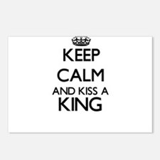 Keep calm and kiss a King Postcards (Package of 8)