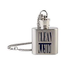 Blue Dishwasher Magnet Flask Necklace