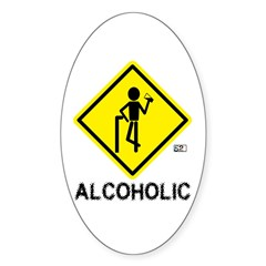 Alcoholic Oval Decal