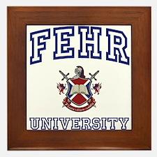 FEHR University Framed Tile