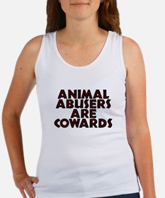 Animal abusers are cowards - Women's Tank Top