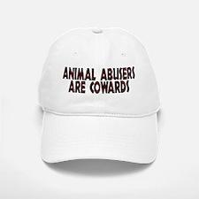 Animal abusers are cowards - Baseball Baseball Cap