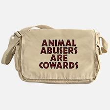 Animal abusers are cowards - Messenger Bag