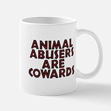 Animal abusers are cowards - Mug