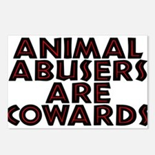 Animal abusers are coward Postcards (Package of 8)