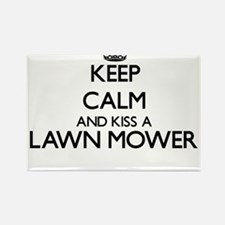 Keep calm and kiss a Lawn Mower Magnets