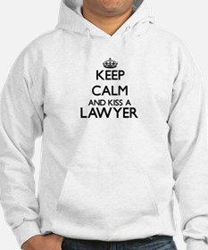 Keep calm and kiss a Lawyer Hoodie