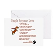 Beagle Property Laws Greeting Cards (Pk of 20)