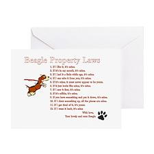 Beagle Property Laws Greeting Card