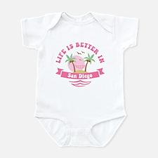 Life's Better In San Diego Infant Bodysuit